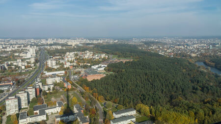 tv tower: city from the TV tower