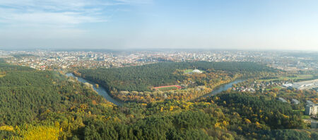 tv tower: panoramae city from the TV tower Stock Photo
