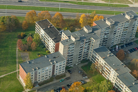 multi storey: houses from above
