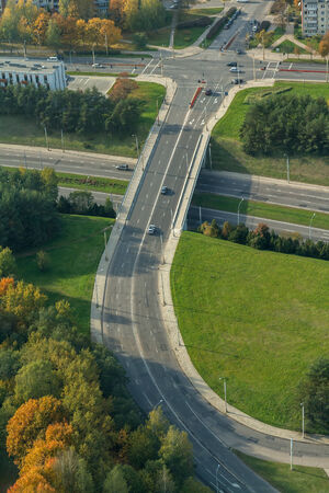 multi storey: road from above Stock Photo