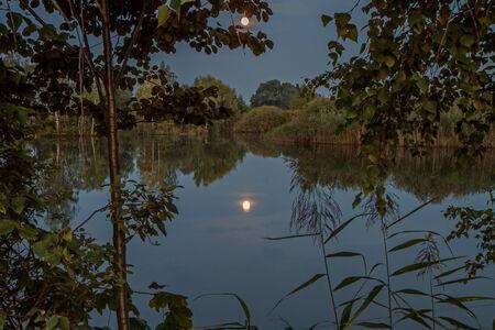 moon over the lake photo