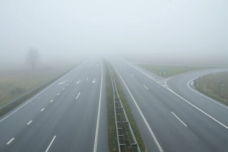 highway in the early morning photo