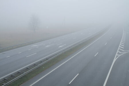 highway in morning photo