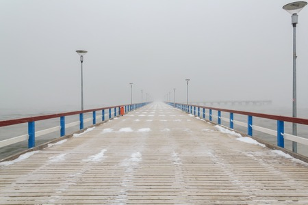 bridge over water: bridge into the sea in Palanga
