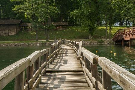 bridge over water: the swinging bridge on the water