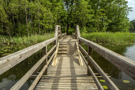 bridge over water: the swinging bridge
