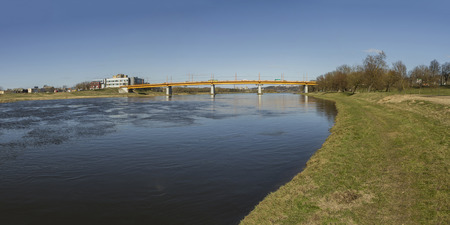 bridge over water: bridge over the Neman Panorama