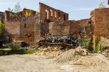 abandoned: destroyed And abandoned house