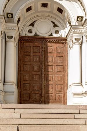 kaunas: doors of the church