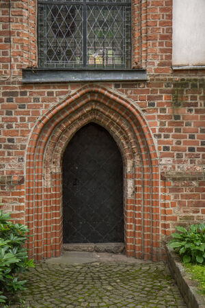 old church: metal doors of the old church