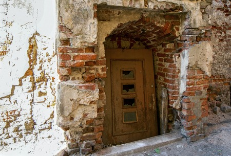 unused: Old broken and unused doors Stock Photo