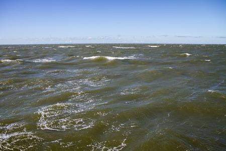uninhabited: sea waves Stock Photo
