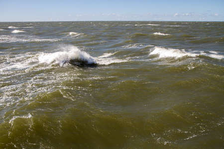 baltic sea: waves in sea Stock Photo