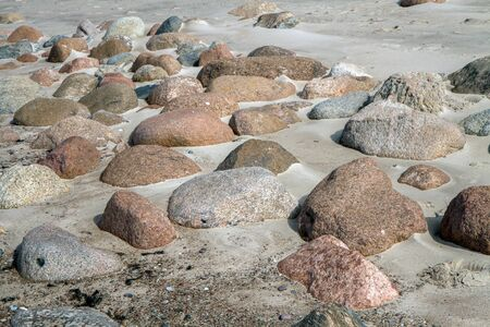 hot stones: Stones and sand
