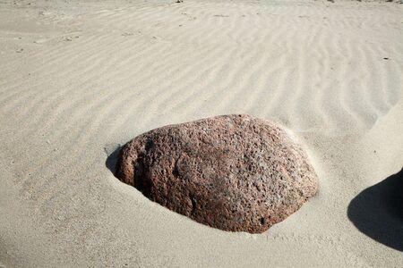 uninhabited: Stone in beach