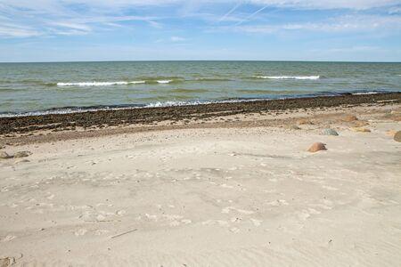 uninhabited: sand near the sea