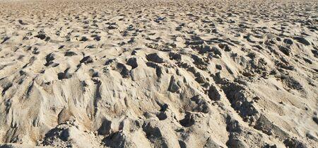 uninhabited: sand panorama Stock Photo
