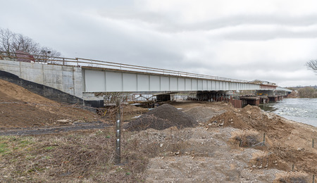 bridge over water: newly constructed bridge