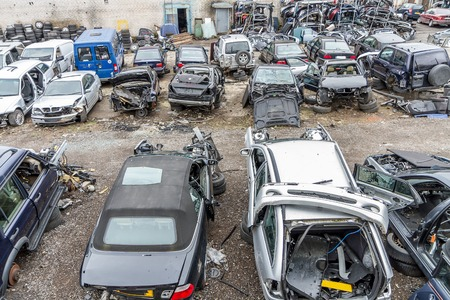 damaged cars: damaged cars