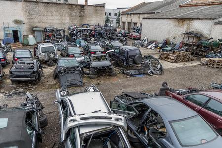 wrecks: many car wrecks Editorial