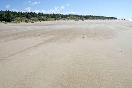uninhabited: Wind-blown sand Stock Photo
