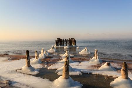 piles: Frozen bridge piles