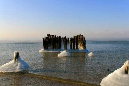 baltic sea: Many piles
