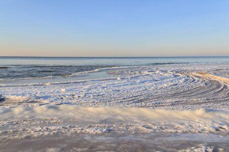 baltic sea: Baltic sea in winter Stock Photo