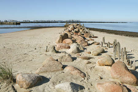 uninhabited: Stones left over from the old bridge