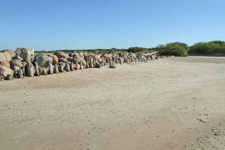 uninhabited: Stones at the sea Stock Photo