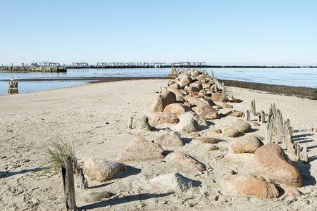 hot stones: Stones on sand Stock Photo