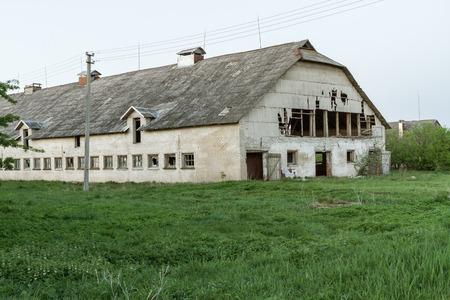 bombed city: abandoned farm