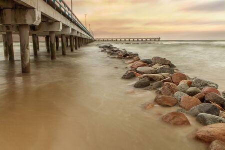 baltic sea: Bridge in Baltic Sea