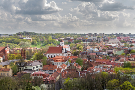 vilnius: Vilnius Home roofs from above