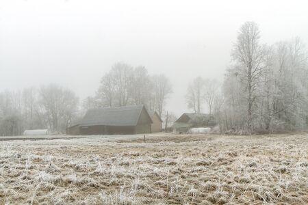 grange: Grange In Winter Stock Photo