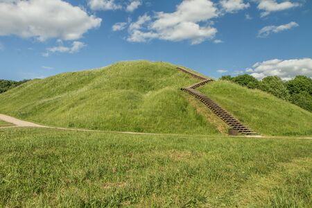 mound: Stairs To The Mound Stock Photo