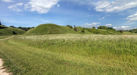 mounds: Mounds In Summer Stock Photo