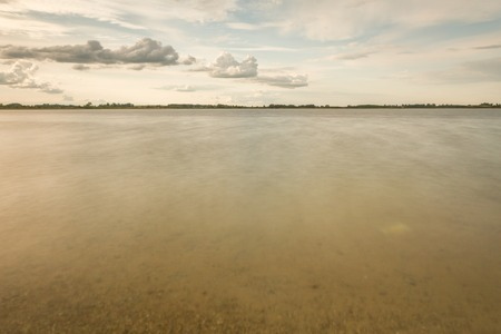 long lake: small lake in long exposure