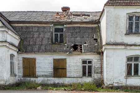 without windows: old mansion building Stock Photo