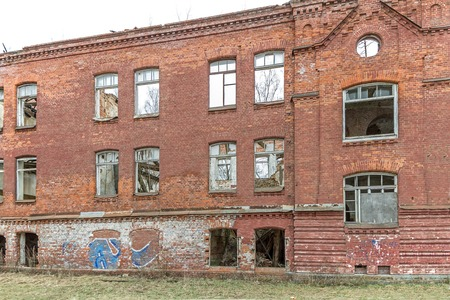 without windows: Abandoned and ramshackle Stock Photo