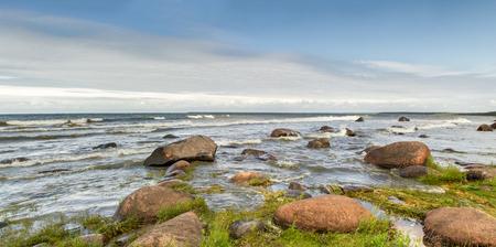 baltic sea: stones in sea Stock Photo