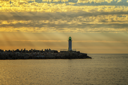 evening: lighthouse in the evening