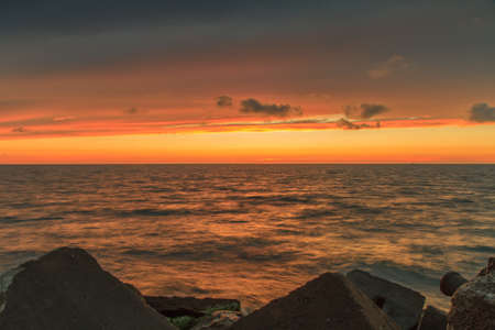 evening: Baltic Sea in evening
