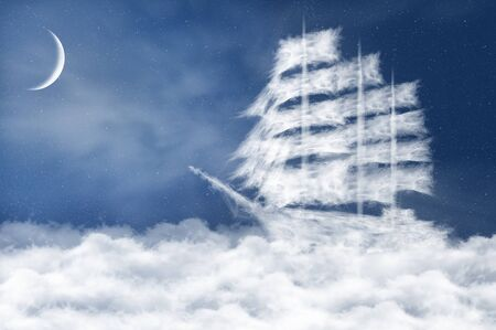 old ship: Cloud ship
