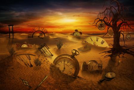 fantasia: Relógios perdido no deserto