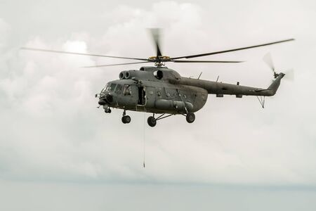 helicopter rescue: Helicopter in rescue operation