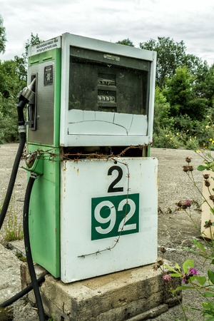 abandoned gas station: Old Gas station pump