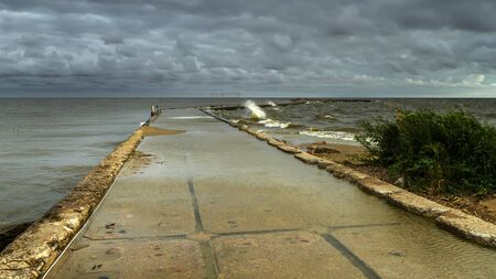 Storm in Baltic sea