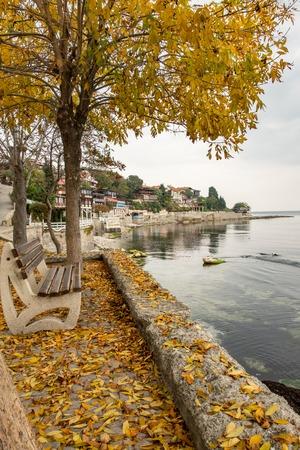 Ancient city of Bulgaria, Nessebar in autumn Stock Photo