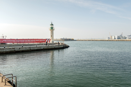 Lighthouse in Burgas port